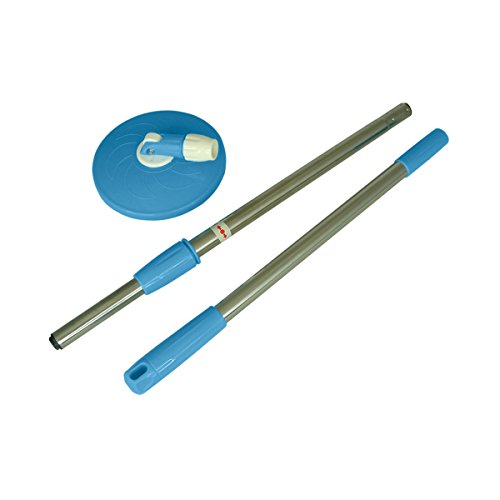 Primeway Magic Spin Mop 2 Section Twist Lock Handle Rod Set with Disc, Blue  available at amazon for Rs.419