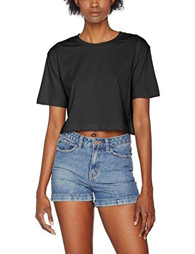 Urban Classics TB1555 Damen T-Shirt Ladies Short Oversized Tee Black, XL (Girl-merchandise Jersey)
