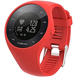 for polar watch m200 straps 6 colors bands replacement soft silicone straps bracelet for POLAR M200 GPS watch smartwatch, bandwidth 20MM by Sannysis (red)