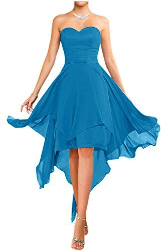 Victory bridal abendkleider court tendance nouer en chiffon sommerkleider tanzkleider brautjungfernkleider Bleu - Bleu roi