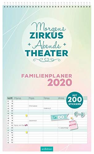 Morgens Zirkus, abends Theater! Familienplaner 2020: Planer für die ganze Familie mit 200 Stickern