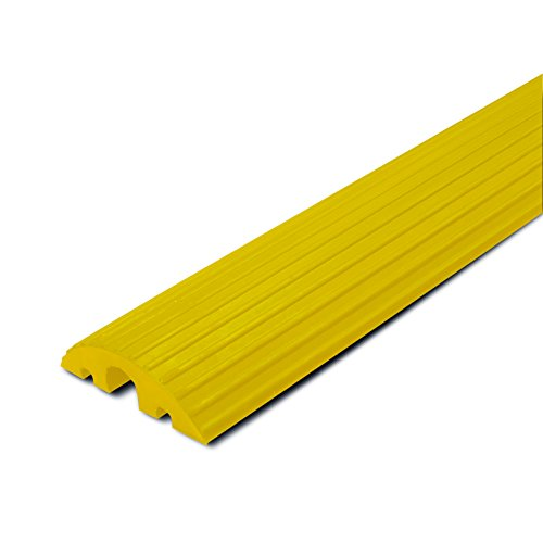 Preisvergleich Produktbild MORAVIA Kabelbrücke, aus Hartgummi, 2 Kabelkanäle 20 x 20 mm, 1 Kabelkanal 45 x 45 mm, gelb, 279.28.720