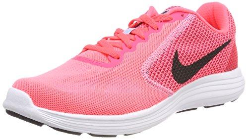 Nike wmns revolution 3, scarpe da trail running donna, rosa (hot punch/black/aluminum/white 602), 43 eu