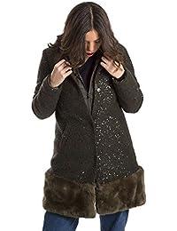 Amazon.it  liu jo - Verde   Giacche e cappotti   Donna  Abbigliamento a81a43cfafd
