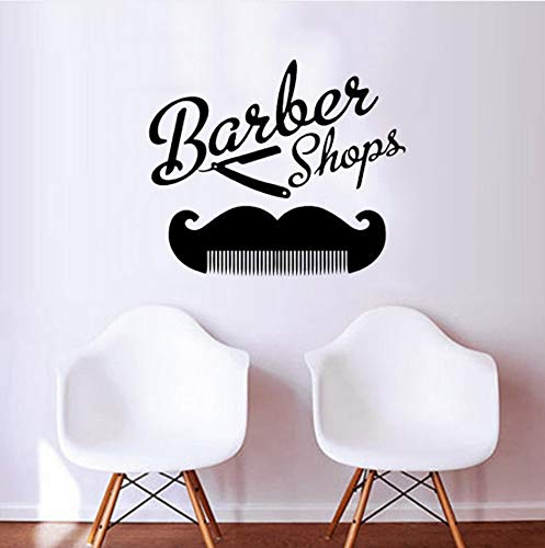 Wandtattoo Barber Shop Wandaufkleber Friseursalon Kunst Dekoration Dress Up Your Hair Verfügbar 42x50cm