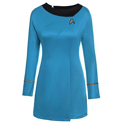 LACKINGONE Uniform Kleid TOS Kostüm Blau Damen (L)