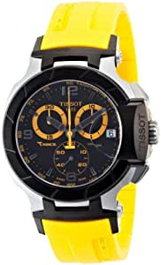 Tissot Hommes T0484172705703 T-Race Jaune Quartz chronographe Bracelet Cadran