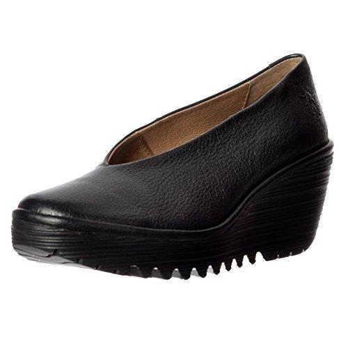Fly London Women's Ladies Yaz Wedge Round Toe Work School Court Shoe...