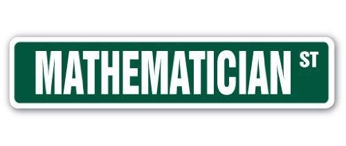 Home Decor Mathematiker Street Schild Professor Instructor Statistiken aktuar (versicherungswirtschaft) Geschenk Ökonom Metall Zeichen für Outdoor Yard Sicherheit Schild Aluminium Schilder