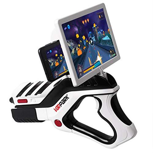 SHARESUN Bluetooth-Spiel Pistole, High-Tech-Puzzle-Modell Pistole, kreative Spielzeugpistole Junge Geburtstagsgeschenk für Kinder im Alter von 5-12 Jahren,White,30