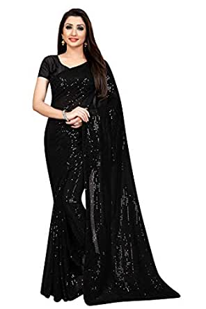 Ethnic Empire Women's Kosa Silk Georgette Saree With Un-stitched Blouse