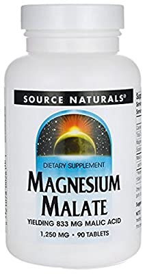 Source Naturals Magnesium Malate (1250mg, 90 Vegetarian Tablets) by Source Naturals