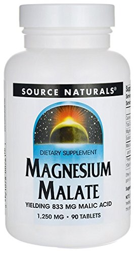SOURCE NATURALS, Magnesium Malate 1250 mg - 90 tabs