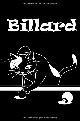 Billard: Katze spielt Billard | Notizbuch für Notizen, Termine, Skizzen, Zeichnungen oder Tagebuch | Geschenk zu Geburtstag oder Weihnachten [100 Seiten | liniertes Papier | A5 Format | Soft Cover]