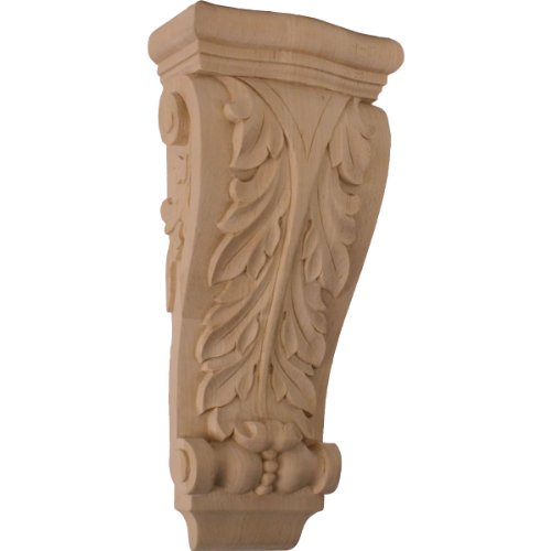 Medium Holz Corbel (Ekena COR06X03X13FRLW 6 1/4-Inch Width x 3 1/8-Inch Depth x 13 1/2-Inch Height Medium Farmingdale Acanthus Pilaster Corbel - Linden Wood)