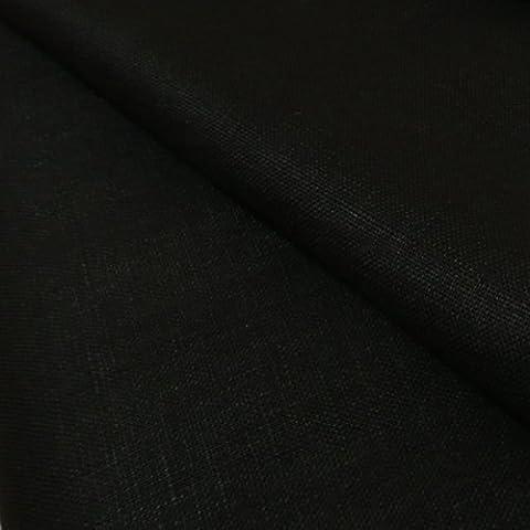 Noir Tissu 100% lin délavé Poids 260g/m² 140cm large–Vendu au Mètre