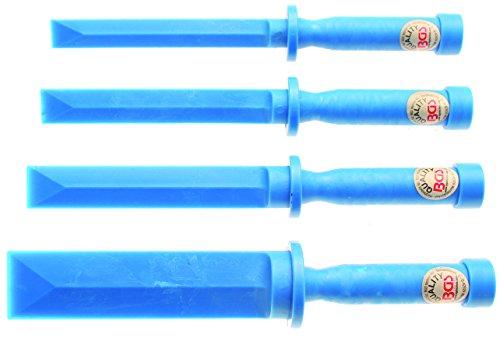 BGS Kunststoff Schaber Set, 19 / 22 / 25 / 38 mm breit, 4 teilig, 366