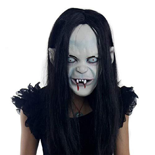 Halloween Maske Erwachsene Scary Latex Horror Weibliche Geist Dekorative Maske Masquerade Supplies (Weibliche Scary Clown)