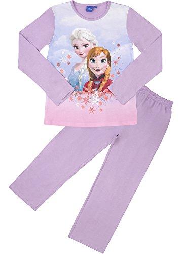 Frozen Mädchen Schlafanzug aus Baumwolle EP2009 (Violett/Violett (2010), 4 Jahre-104) (Hose Muster Von Ausarbeitung)