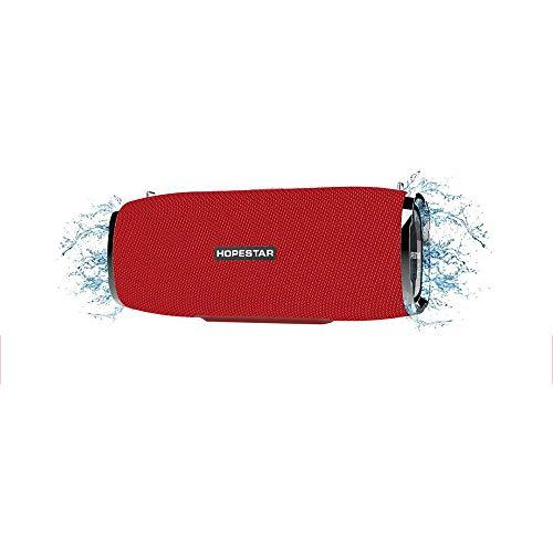 LDJC Mini-Bluetooth-Lautsprecher, tragbarer Lautsprecher Kabelloser wasserdichter Sound der Serie USB-Anschluss zum Aufladen von 8 W hoher Leistung Geeignet für Karnevalsparty, Reisen im Freien,Red