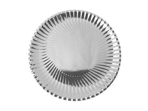 Pappteller gewellter Rand silber, 18 cm, 10 Stück