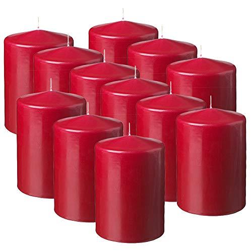 MGE - Velas Perfumadas - Velones Aromáticos - Velas para Ambientar el Hogar - 12 Unidades - Rojo - Aroma Fruta de la Pasión - Fabricado en España