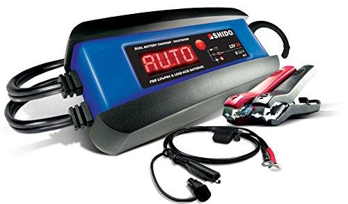 Shido-Batteries DC3 Dual Batterieladegeräte, Blau-Schwarz