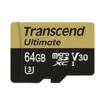 Transcend TS64GUSDU3M Memoria Flash 64 GB MicroSDXC Clase 10 UHS-I - Tarjeta de Memoria (64 GB, MicroSDXC, Clase 10, UHS-I, 95 MB/s, Negro, Oro)