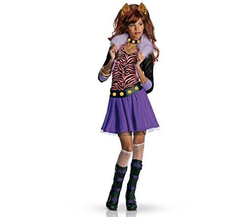 RUBIE'S Monster High - Clawdeen Wolf Kinder Kostüm Luxus - Größe 5-7 Jahre (Clawdeen Halloween-kostüme High Monster)