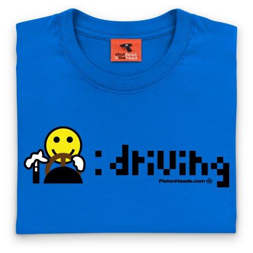 PistonHeads Driving T-Shirt, Damen Royalblau