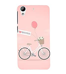 I Love Bicycle 3D Hard Polycarbonate Designer Back Case Cover for HTC Desire 728G Dual Sim::HTC Desire 728G::HTC Desire 728