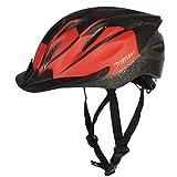 KOOPAN Fahrradhelm Erwachsener Fahrrad Helm Sturzhelm Reithelm Mountainbike Helm mit LED Lampe Rosa Blau und Rot Farbe, L (58-62cm) Y-15 (Rot Schwarz)