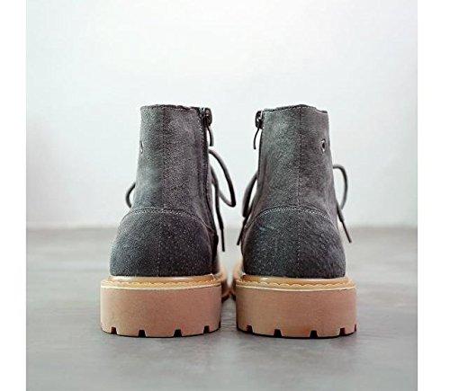 HL-PYL-la versione coreana di scarpe di cuoio, la breve stivali, il nuovo Martin stivali gray