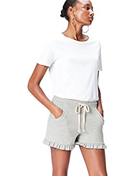 FIND Shorts in Felpa con Rouches Donna