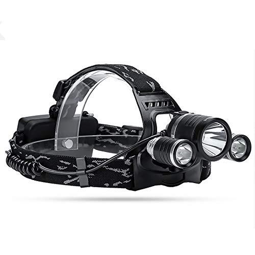 Lampe Frontale LED Orientable 4 Modes LED Frontale avec USB Charger Lampe Frontale éTanche Selon Ipx4 Super Bright Lampe De Poche (4 Piles AAA Inclus