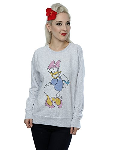 Disney Femme Classic Daisy Duck Sweat-Shirt Heather Gris