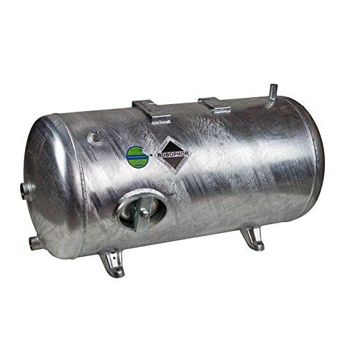 Heider Robophor Druckkessel 245 l Liter 6 bar Druckbehälter Druckspeicher Drucktank liegend verzinkt für Loewe Wasserknecht Kolbenpumpe