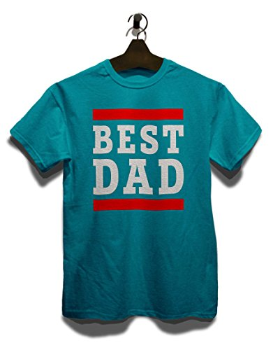 Best Dad T-Shirt Türkis