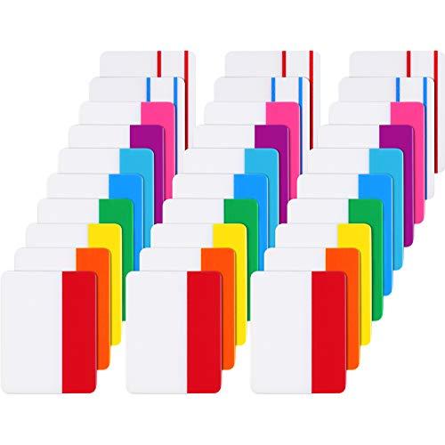 600 Stück Etikett 2 Zoll Klebrig Index Etikett Seite Marker, Beschreibbare und Repositionierbare Datei Etikett für Buchmarkierungen, Lesen Notizen, Dateiordner, 30 Sets 10 Farben (Klebe-tabs)