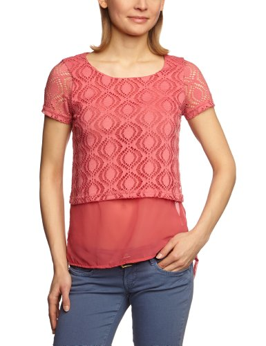 VERO MODA Damen Top 10089949 Janni SS Long Top Rosa (RAPTURE ROSE)