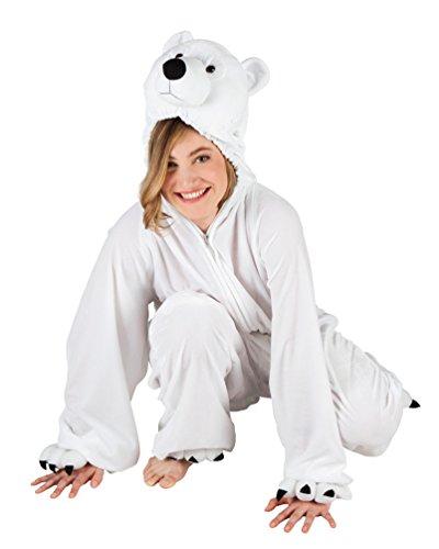 Karneval-Klamotten Eisbär Kostüm Damen aus Plüsch Erwachene Eisbären Kostüm Polar-Bär Kostüm Karneval Tier-Kostüm Damen-Kostüm ()