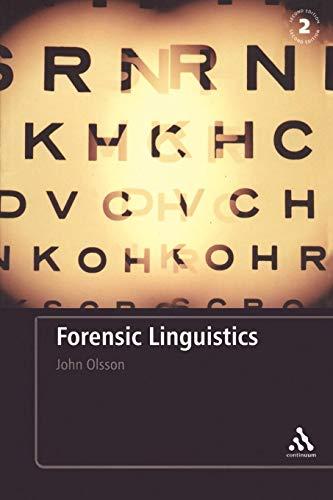 Forensic Linguistics por John Olsson