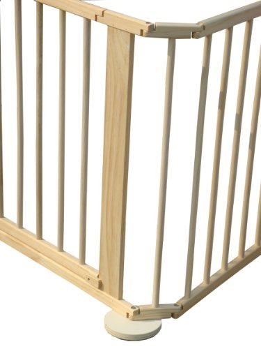 FoxHunter Portable Baby Child Children Foldable Playpen Play Pen Room Divider Wood Wooden 8 Side Panel Heavy Duty New