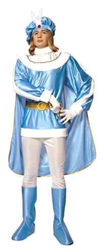 Homme Mango Kostüm - Widmann-cs923547/M-Kostüm Prince blau Größe M