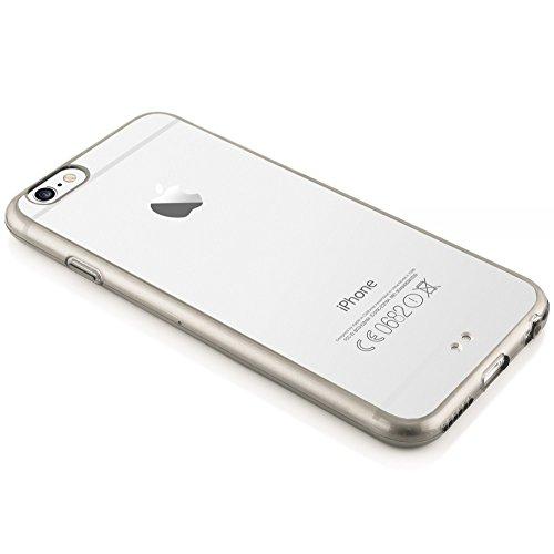 iPhone 6 6S Coque Silicone de NICA, Ultra-Fine Housse Transparente avec Contour de Protection Cover Slim Etui, Mince Telephone Portable Clear Gel Bumper Case pour Apple iPhone 6S 6 - Pink Rose Gris