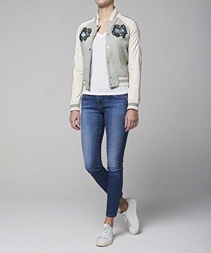 Goosecraft Bomber056, Blouson Femme Mehrfarbig (mint & white MINTWHITE)