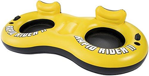 Bestway 43113 - poltrona galleggiante coolerz rapid rider, 259 x 135 cm, giallo/nero
