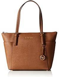 Michael Kors Jet Set Large Top-zip Saffiano Leather Tote - Bolso de hombro Mujer