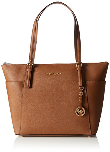 Michael Kors Jet Set Top Zip EW Large Tote Bolso totes, Mujer, Beige (Luggage)