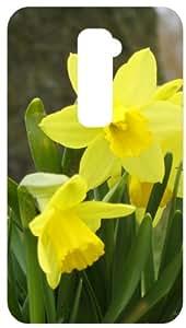 Daffodills Yellow Flower Black Back Cover Case for LG Optimus G2